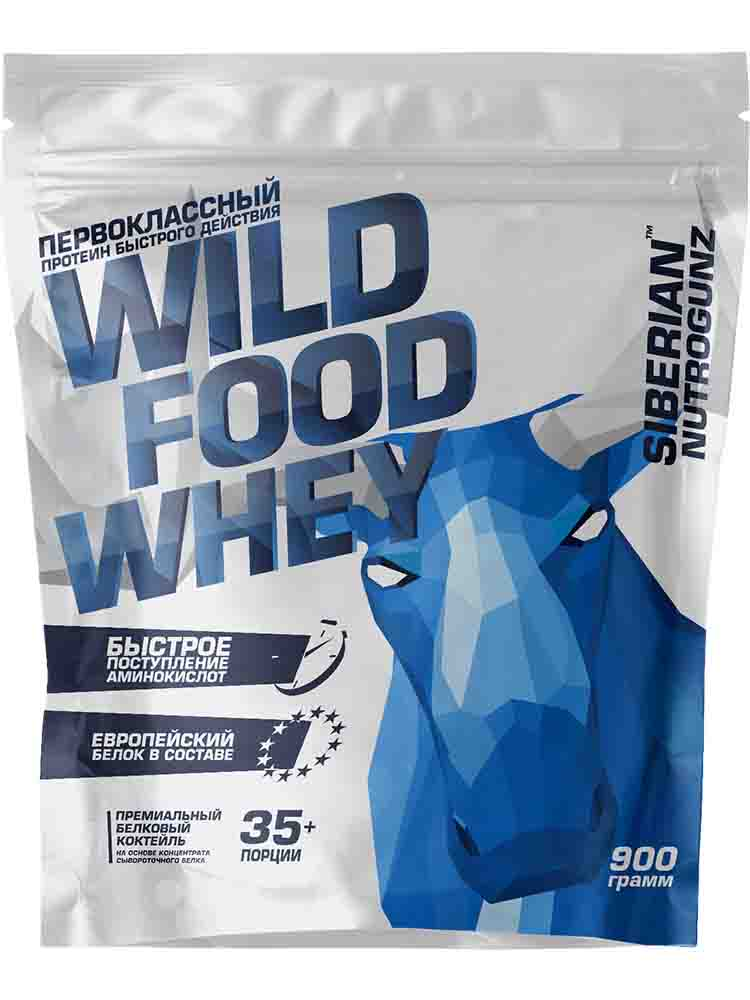 Протеины Siberian Nutrogunz Wild Food Whey 900 гр. ванильный пломбир