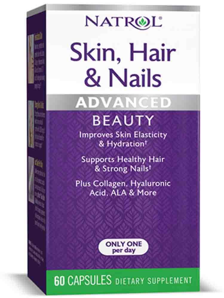 Витаминные комплексы Natrol Skin Hair Nails w/ Lutein 60 капс.