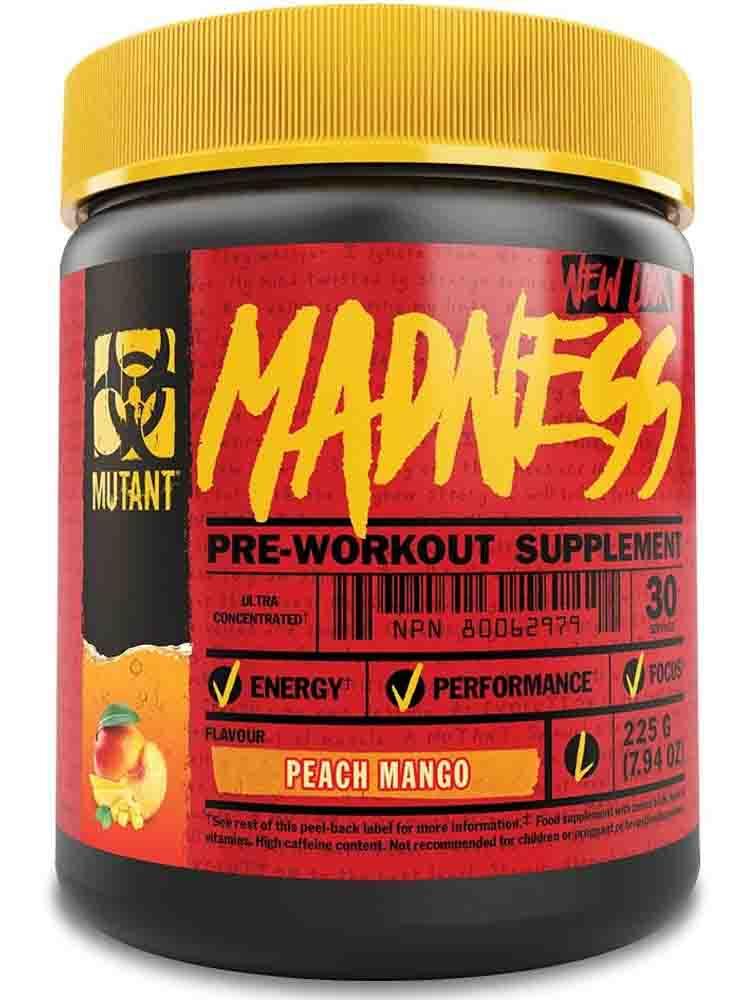 Предтренировочные комплексы Mutant Mutant Madness 275-325 гр. фруктовый пунш