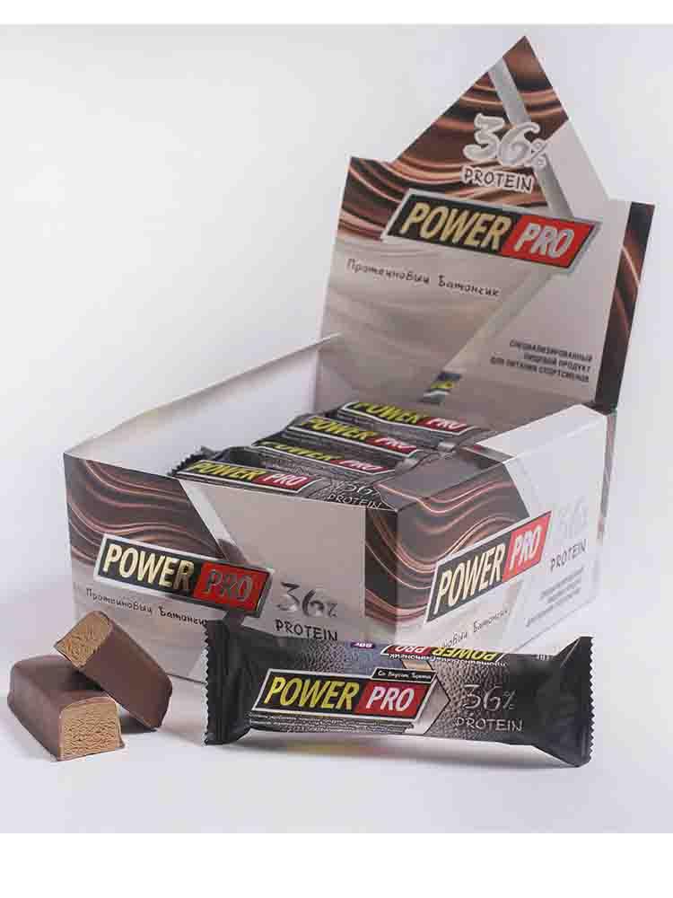 Протеиновые батончики POWER PRO Power Pro Батончик протеиновый 36% 60 гр. орех-йогурт