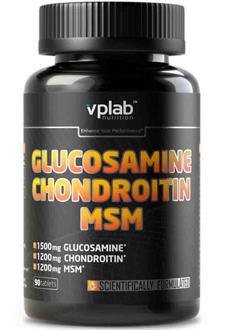 Витамины и БАДы для суставов VPLab Nutrition Glucosamine Chondroitin MSM 180 табл.