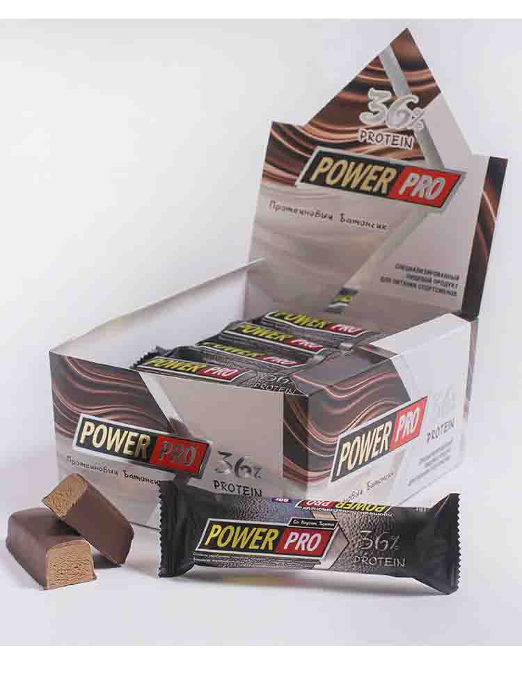 Протеиновые батончики POWER PRO Power Pro Батончик протеиновый 36% 60 гр. фисташковое пралине