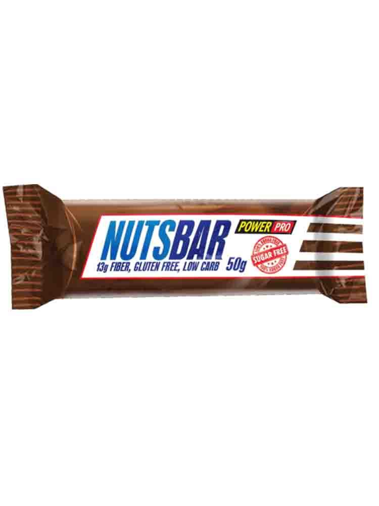Протеиновые батончики POWER PRO Батончик протеиновый Nuts Bar 50 гр. карамель с арахисом