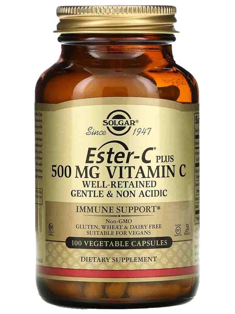 Отдельные витамины Solgar Ester-C plus 500 мг Vitamin C 50 вег. капс.
