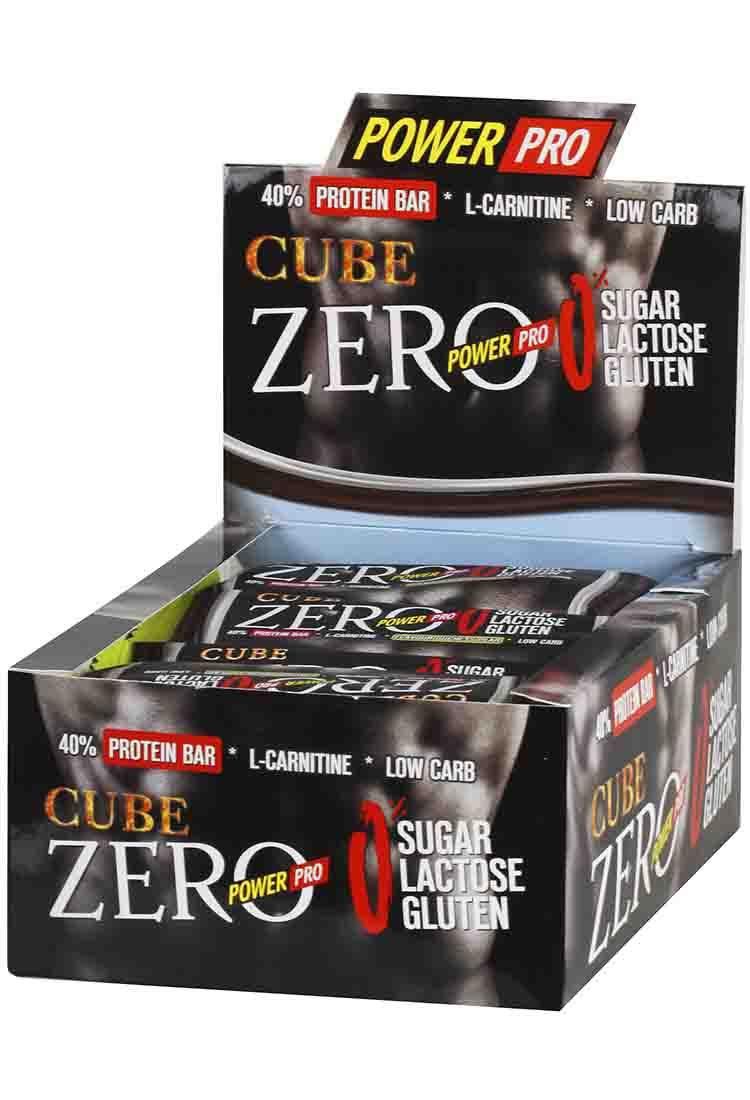Протеиновые батончики POWER PRO Батончик протеиновый Zero CUBE 50 гр. шоколад