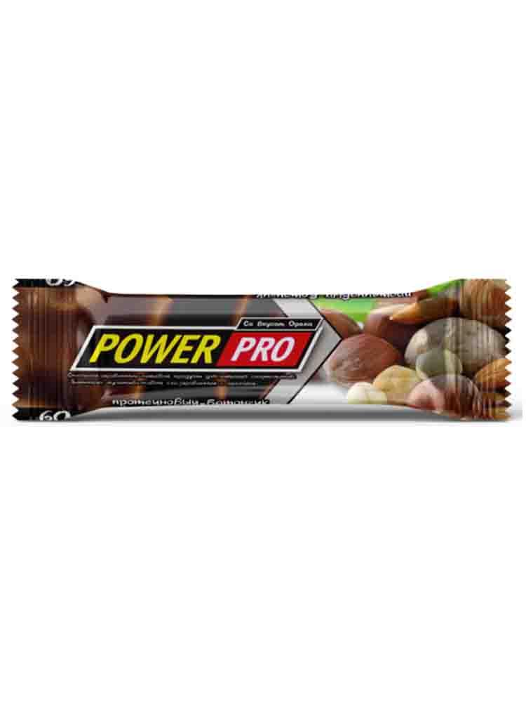 Протеиновые батончики POWER PRO Power Pro Батончик протеиновый Protein Bar 60 гр. фундук