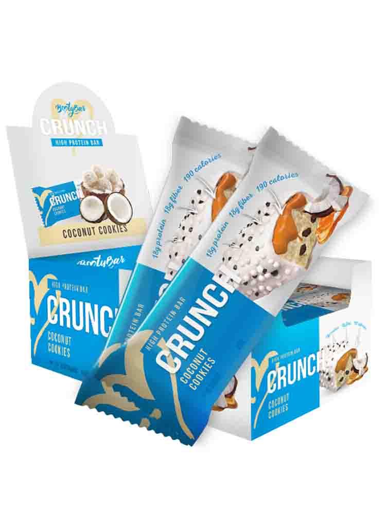 Протеиновые батончики BootyBar Crunch Bar 60 гр. банан-шоколад