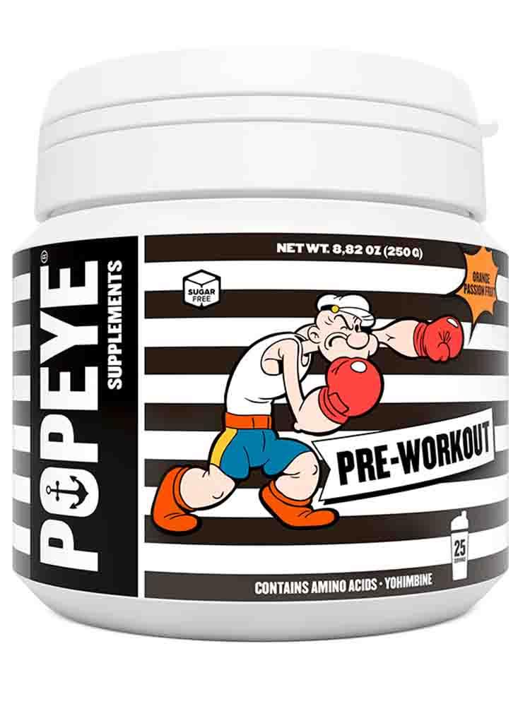Предтренировочные комплексы Popeye Supplements Pre-Workout 250 гр. клубника-лайм