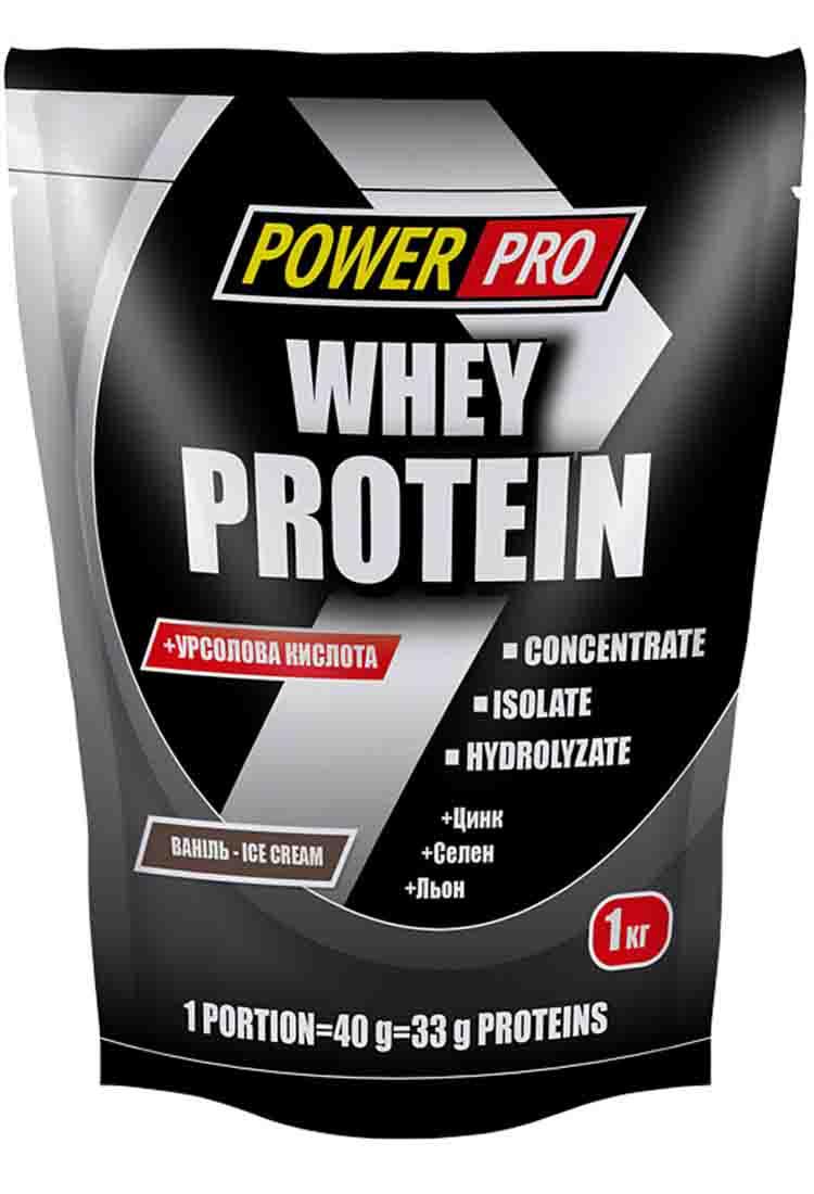 Протеины POWER PRO Whey Protein 1000 гр. клубника